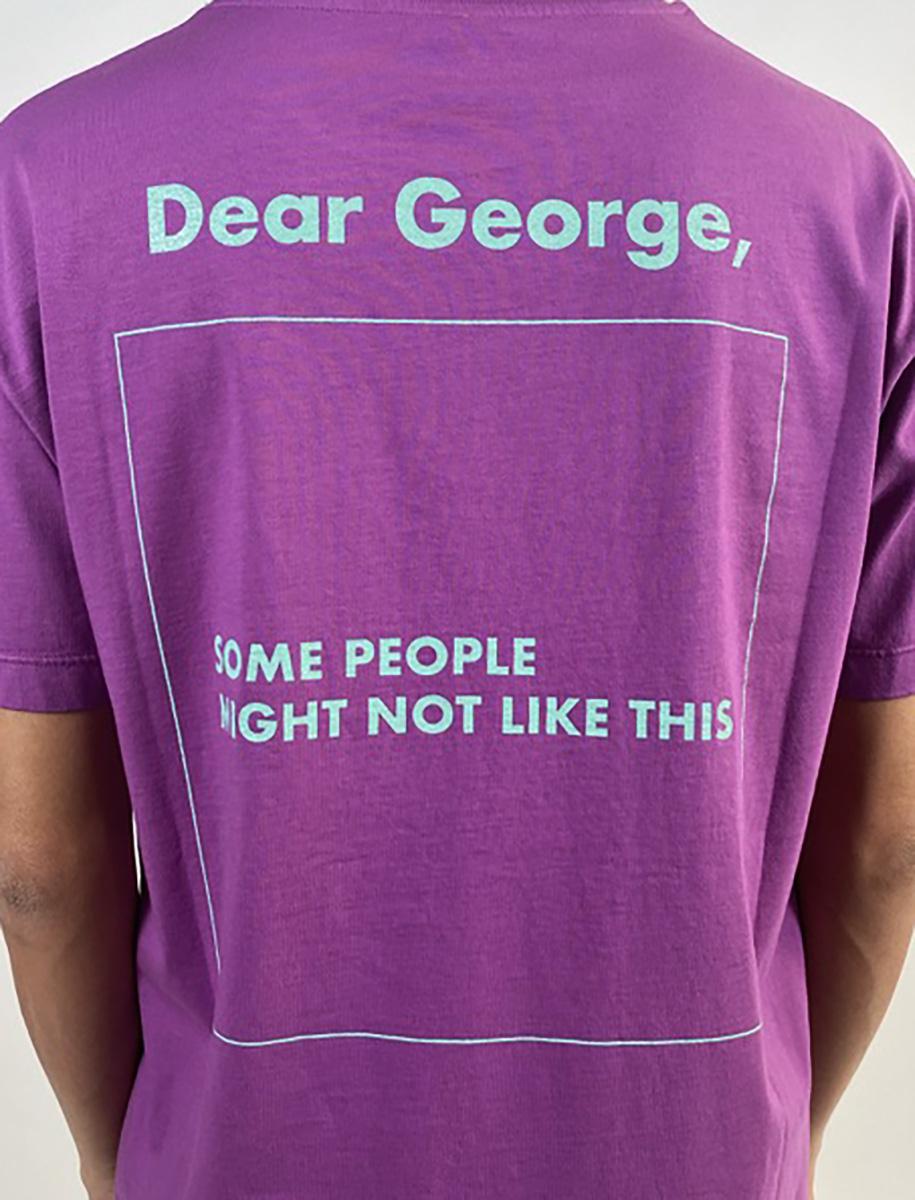 DEAR GEORGE, TSHIRT MC SOME PEOPLE PURPLE TEAL