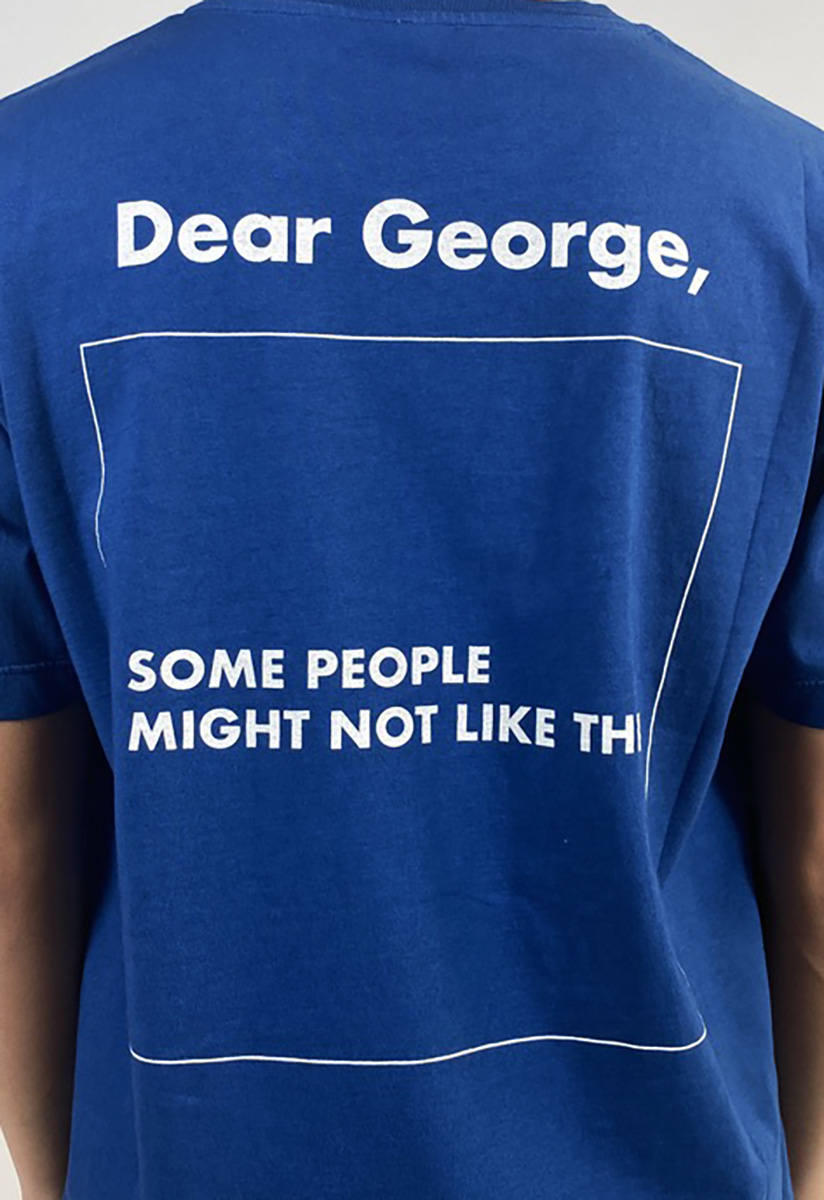DEAR GEORGE, TSHIRT MC SOME PEOPLE BLUE WHITE