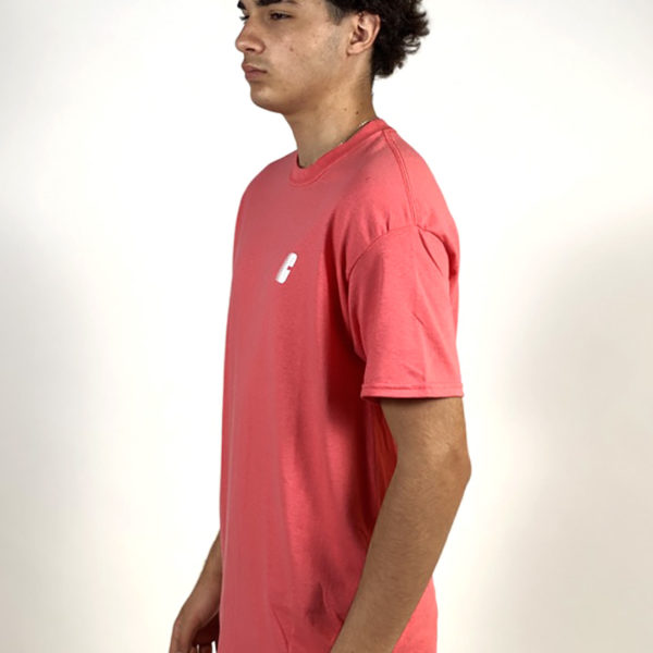 DEAR GEORGE CHRYSTIE RACE C LOGO TSHIRT SALMON