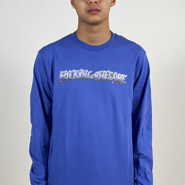 DEAR GEORGE FUCKING AWESOME CHROME L/S TEE FLO BLUE