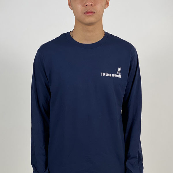 DEAR GEORGE FUCKING AWESOME WIZARDS L/S TEE NAVY