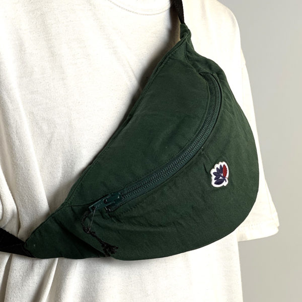 DEAR GEORGE MAGENTA HIP BAG GREEN