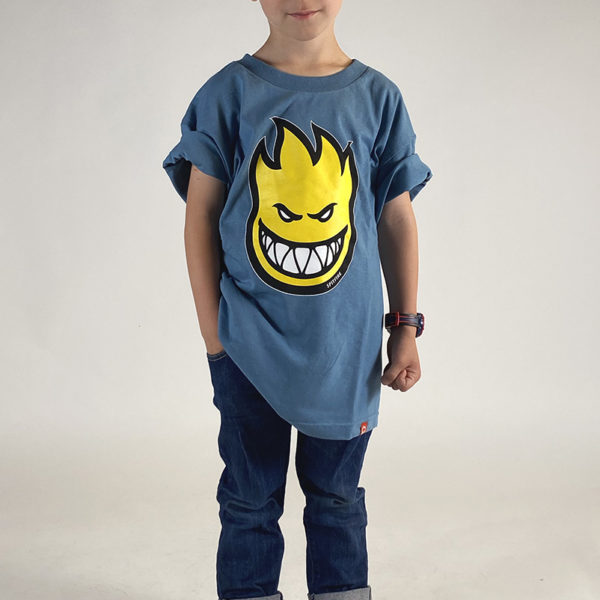 DEAR GEORGE SPITFIRE BIGHEAD FILL TSHIRT SLATE YOUTH