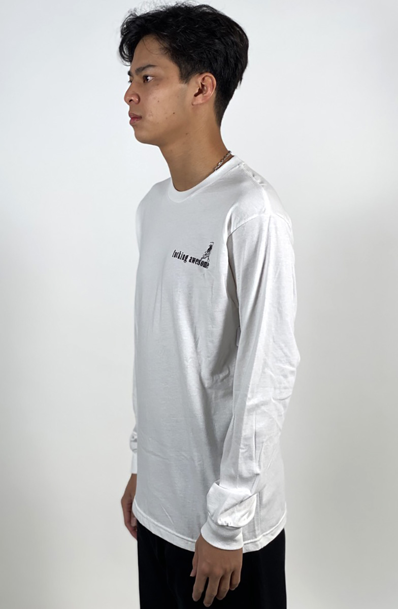 DEAR GEORGE FUCKING AWESOME WIZARDS L/S TEE WHITE