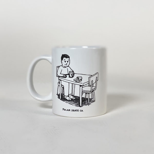 DEAR GEORGE POLAR SPILLED MILK MUG WHITE