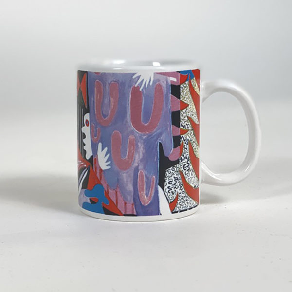 DEAR GEORGE POLAR HIDEOUT MUG WHITE MULTI
