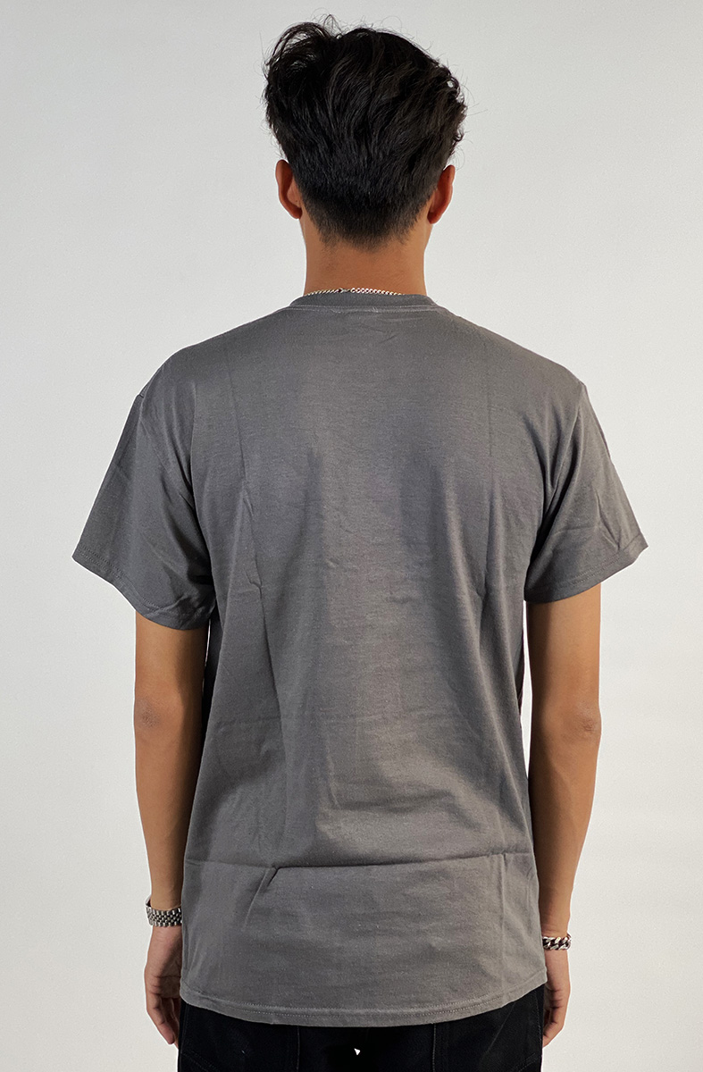 DEAR GEORGE THRASHER FLAME TSHIRT - CHARCOAL