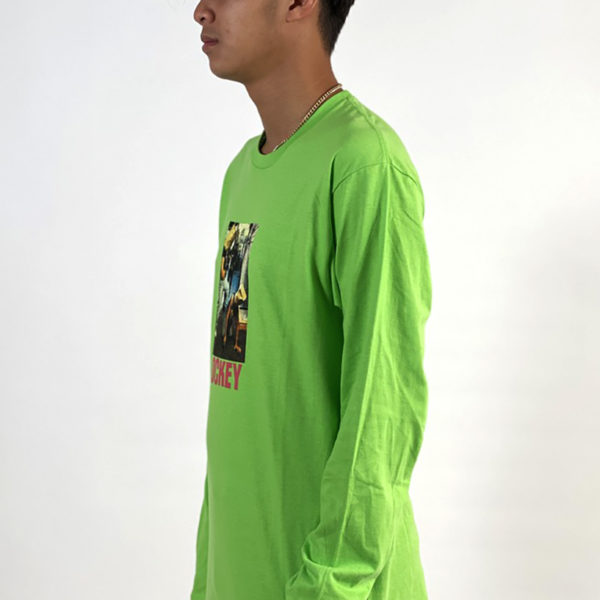 DEAR GEORGE HOCKEY BAGHEAD 2 LS TEE - FLASH GREEN