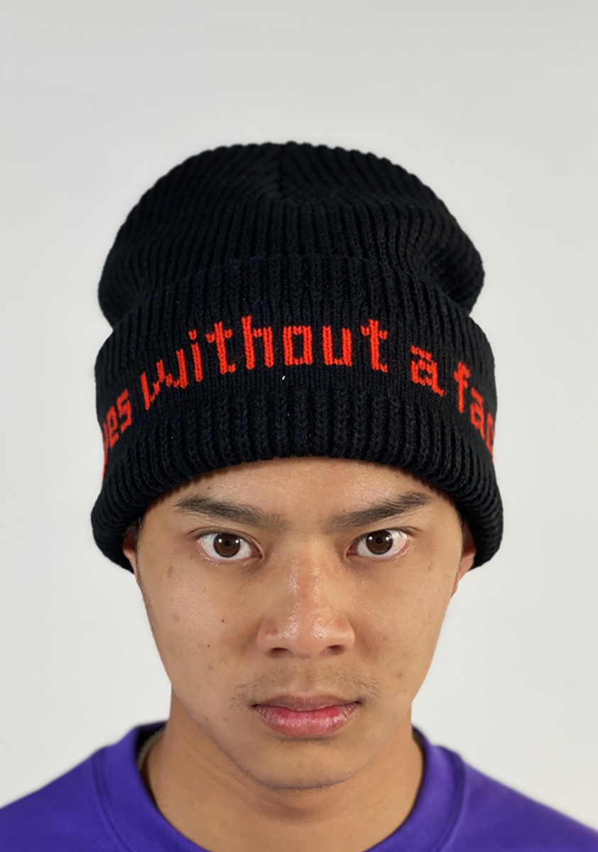 DEAR GEORGE HOCKEY EYES WITHOUT A FACE BEANIE - BLACK ONESIZE