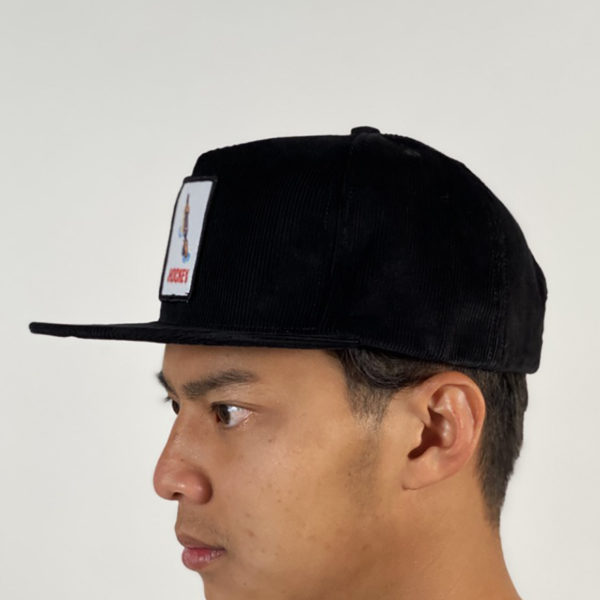 DEAR GEORGE HOCKEY SHOTGUN 5 PANEL CAP - BLACK ONESIZE