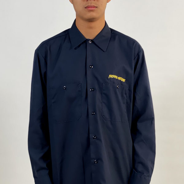 DEAR GEORGE FUCKING AWESOME QUADROPHENIA L/S WORKSHIRT - GULF BLUE